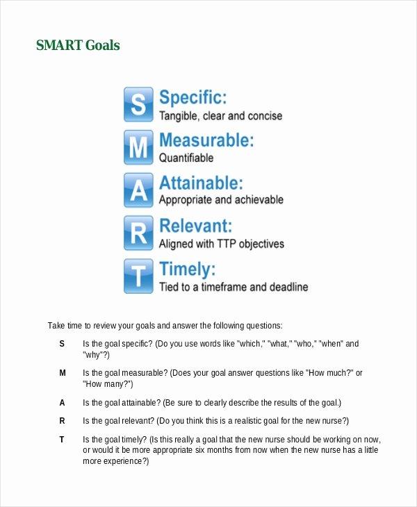 Smart Goals Examples for Nurses Elegant Smart Goals Examples Administrative assistant