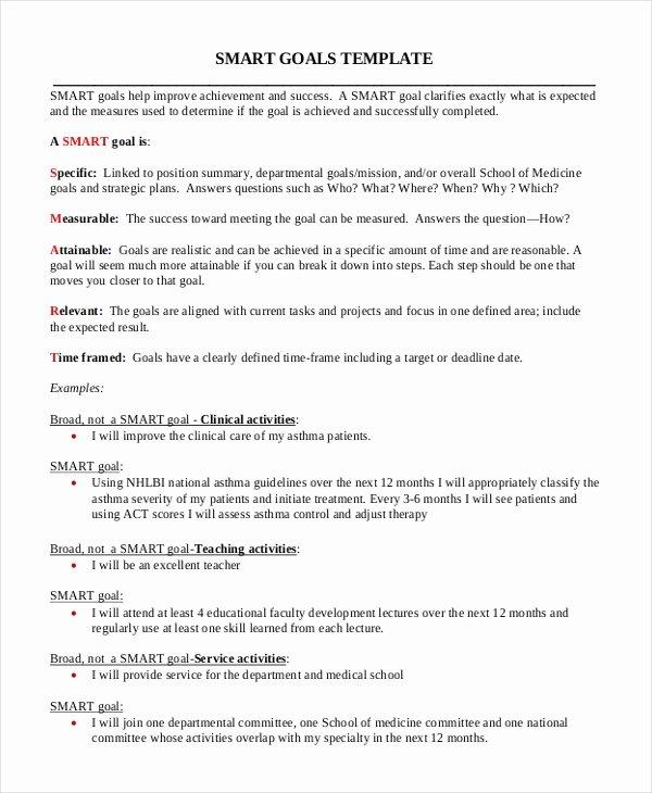 Smart Goals Examples for Nurses Fresh 11 Smart Goals Examples