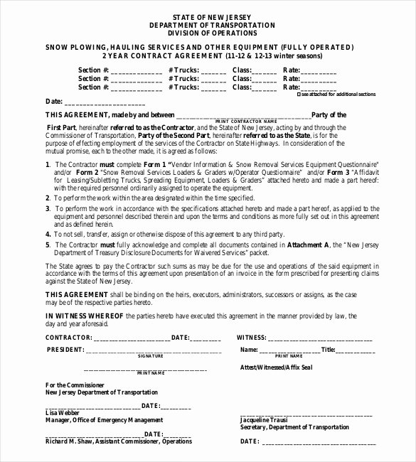 Snow Removal Contract Templates Best Of 20 Snow Plowing Contract Templates Google Docs Pdf Word Apple Pages