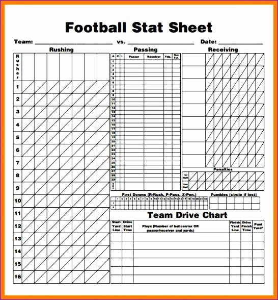 Soccer Score Sheet Template Awesome 14 Football Stat Sheet Template Excel Exceltemplates Exceltemplates
