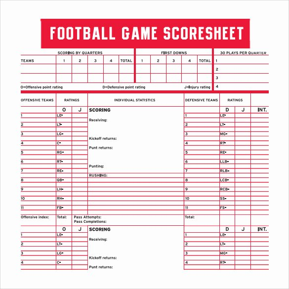 Soccer Score Sheet Template Beautiful 11 Football Score Sheets Free Sample Example format