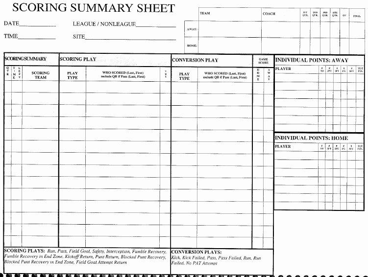 Soccer Score Sheet Template Beautiful 13 Free Sample Football Score Sheet Templates Printable Samples