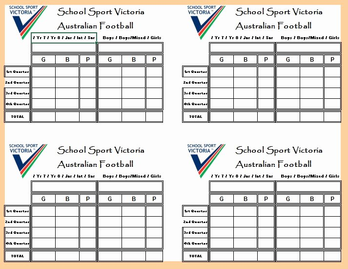 Soccer Score Sheet Template Best Of 13 Free Sample Football Score Sheet Templates Printable Samples