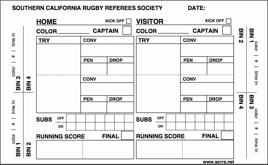 Soccer Score Sheet Template Fresh Printable Referee Score Cards – Ezzy