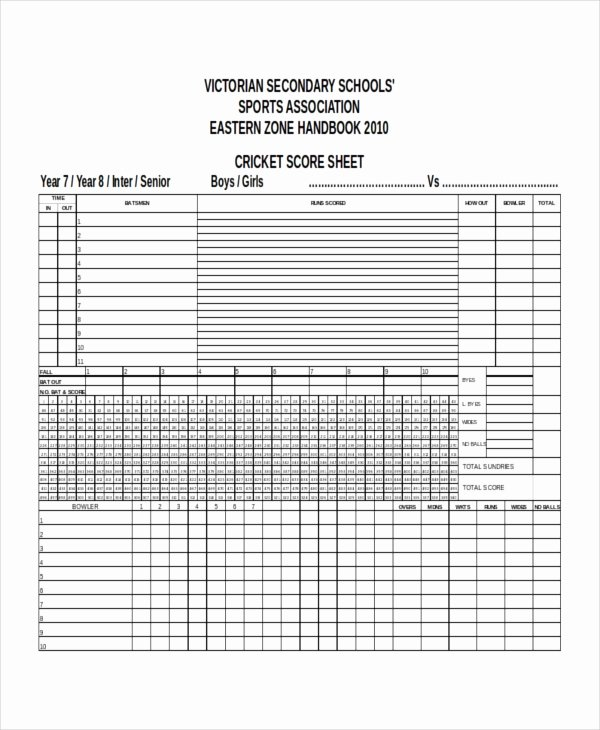 Soccer Score Sheet Template Luxury Score Sheet Templates 26 Free Word Excel Pdf Document Download