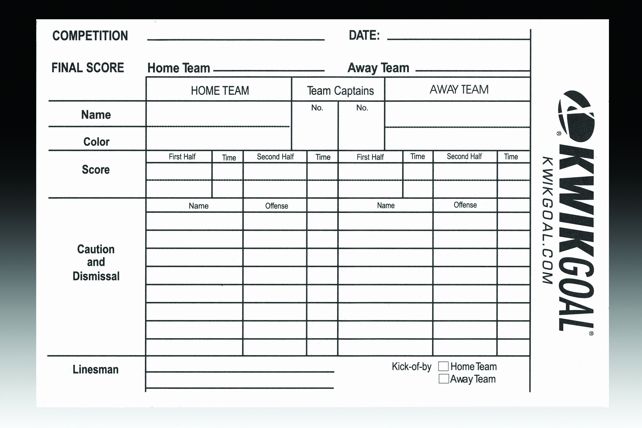 Soccer Score Sheet Template Luxury soccer Referee Score Sheets Gopher Sport