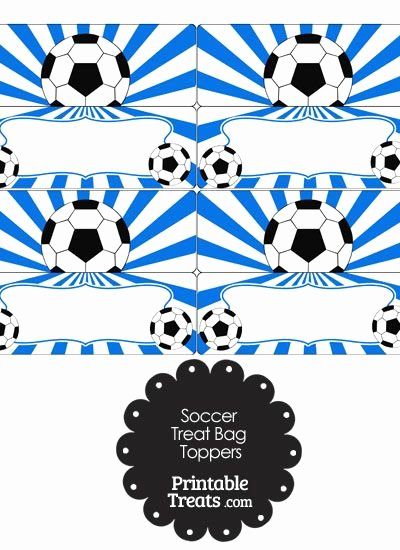 Soccer Snack Schedule Template Lovely Blue Sunburst soccer Treat Bag toppers From Printabletreats soccer Printables