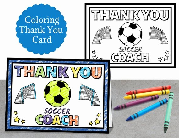 Soccer Thank You Cards Awesome Coloring soccer Thank You Coach Card soccer Coach Card Coach