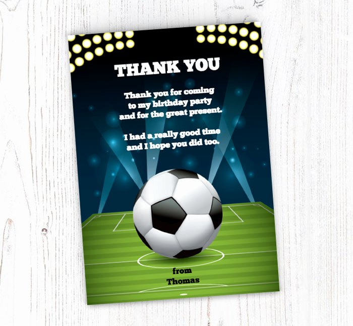 Soccer Thank You Cards Best Of Football Floodlights Thank You Cards