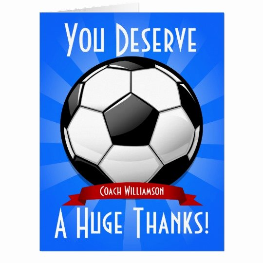 Soccer Thank You Cards Luxury A Big soccer Ball Giant Thank You Card