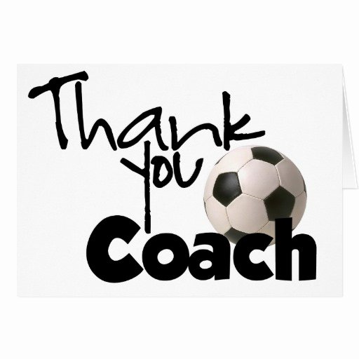 Soccer Thank You Cards New Thank You Coach soccer Greeting Card