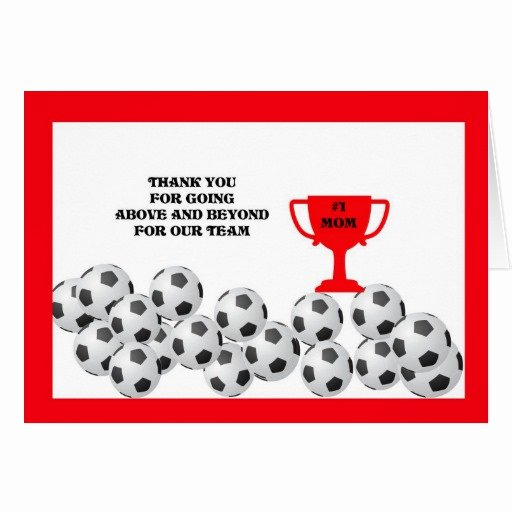 Soccer Thank You Cards Unique soccer Mom Thank You Card