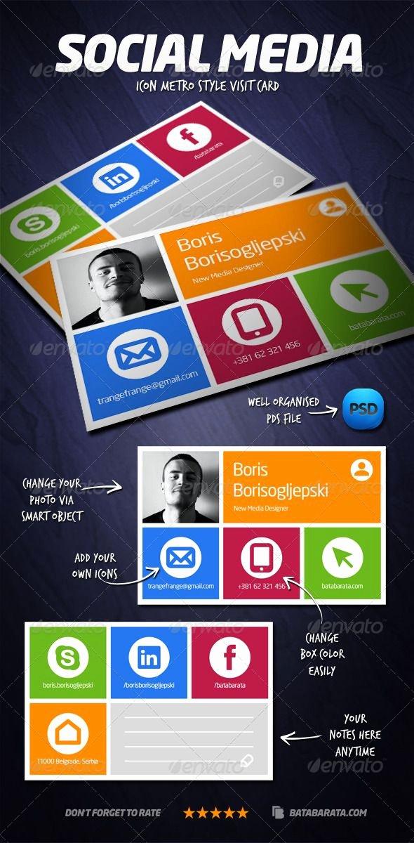 Social Media Business Card Best Of social Media Visit Card