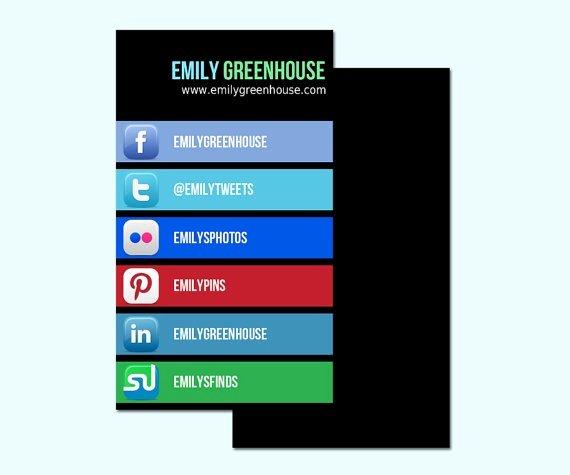 Social Media Business Card Fresh 17 Best Images About Business Cards with social Media Contact Information On Pinterest