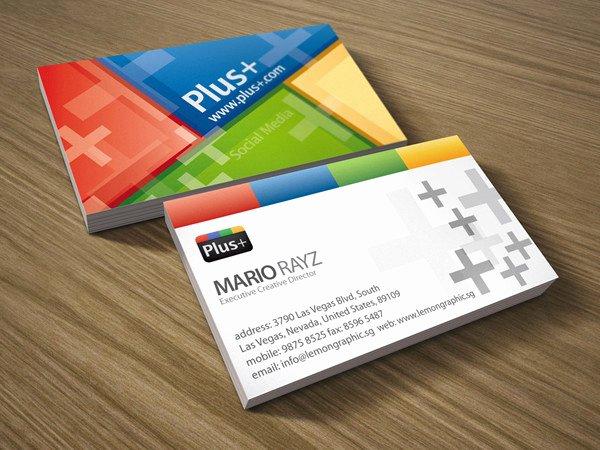 Social Media Business Card Inspirational 13 social Media Business Card Templates Psd Word Ai