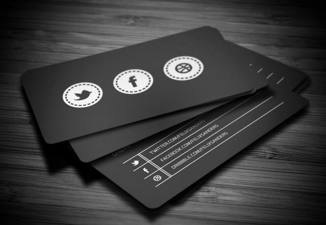 Social Media Business Card Inspirational 30 Free Business Card Templates for Every Profession