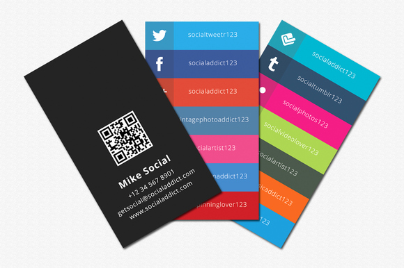 Social Media Business Card Inspirational social Media Business Cards Samples and Design Ideas Startupguys