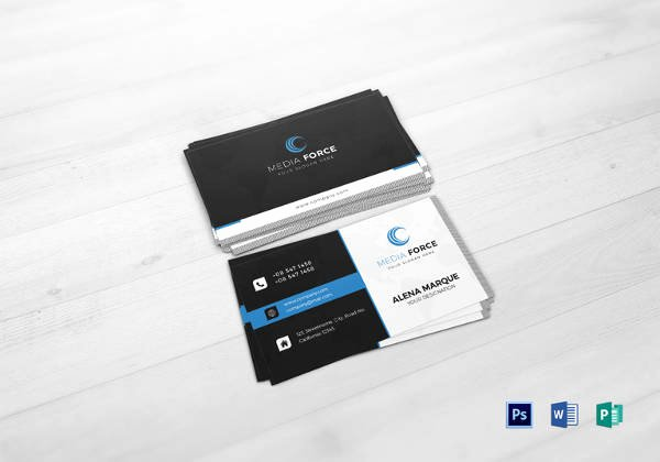 Social Media Business Card Templates Awesome 13 social Media Business Card Templates Psd Word Ai