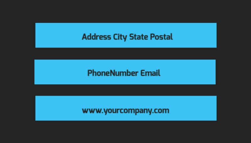social media marketing business card template