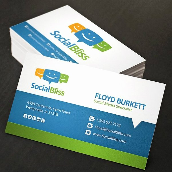 Social Media Business Card Templates Elegant 10 Marketing Business Card Templates Samples Examples formats