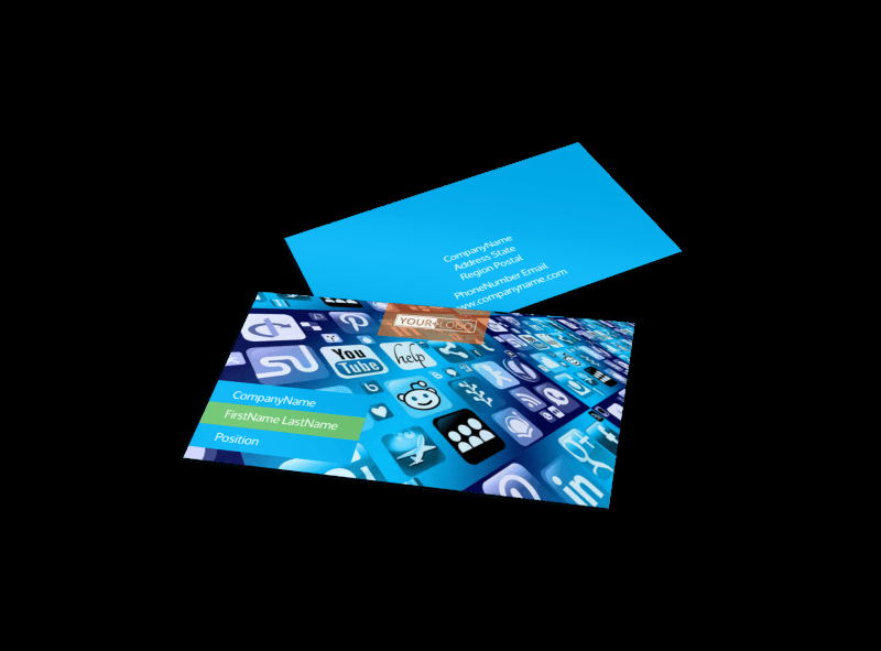 Social Media Business Card Templates Fresh social Media Marketing Consultants Business Card Template