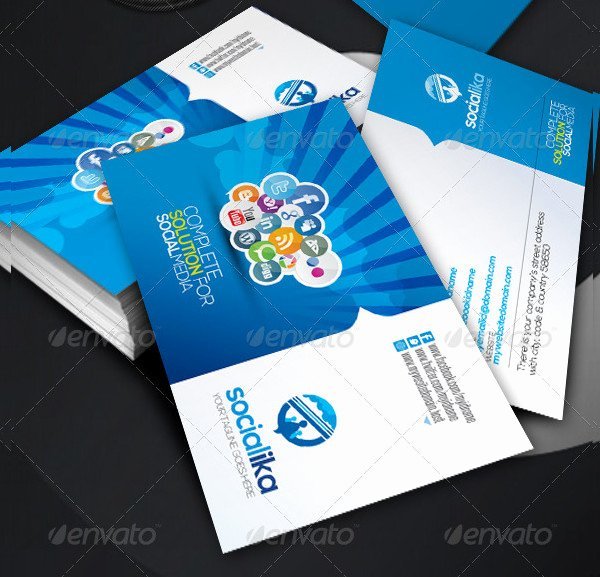 Social Media Business Card Templates Inspirational 39 social Media Business Card Templates Free & Premium Download