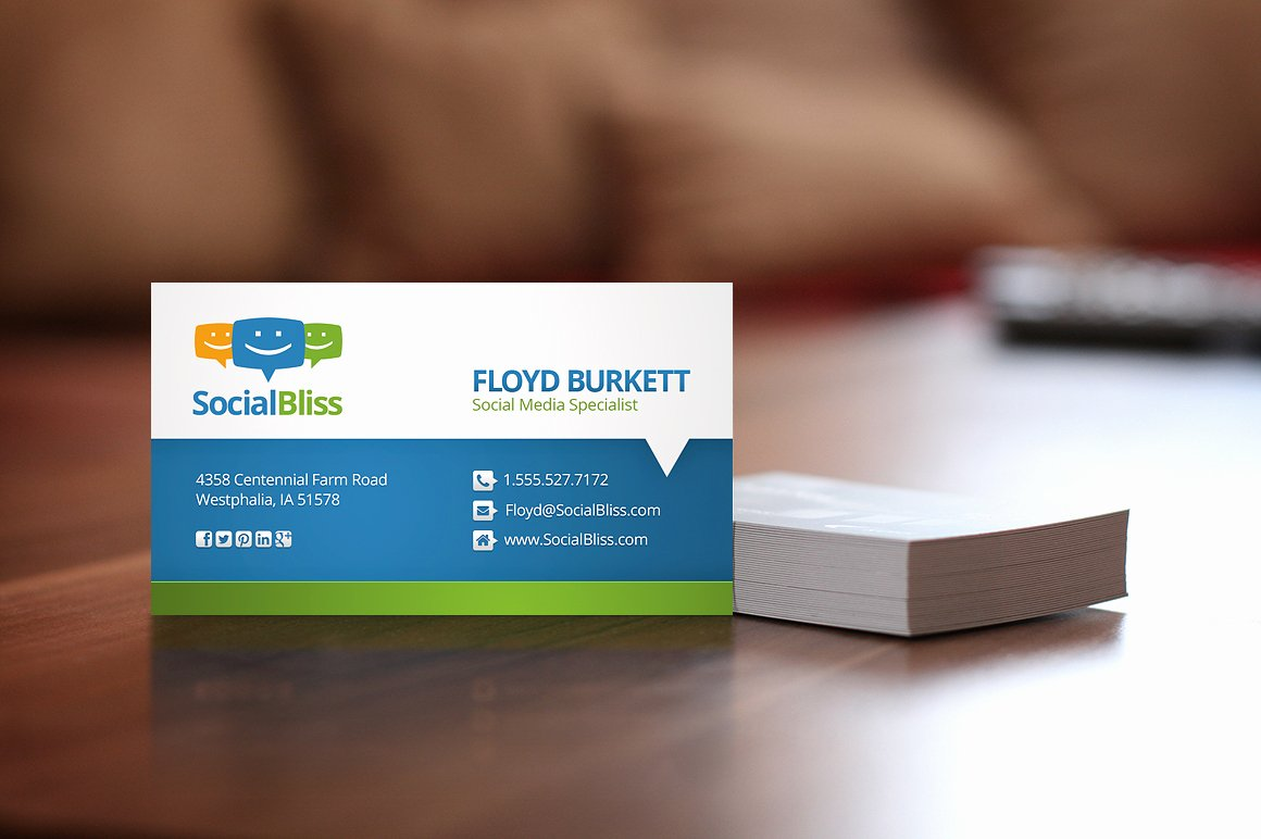 Social Media Business Card Templates Lovely social Media Business Card Business Card Templates On Creative Market