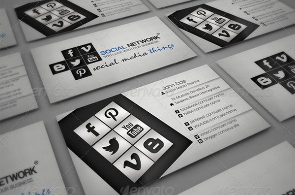 Social Media Business Card Templates Luxury 13 social Media Business Card Templates Psd Word Ai