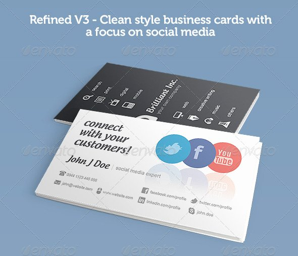 Social Media Business Card Templates Luxury 56 Visually Stunning Psd Business Card Templates Web & Graphic Design
