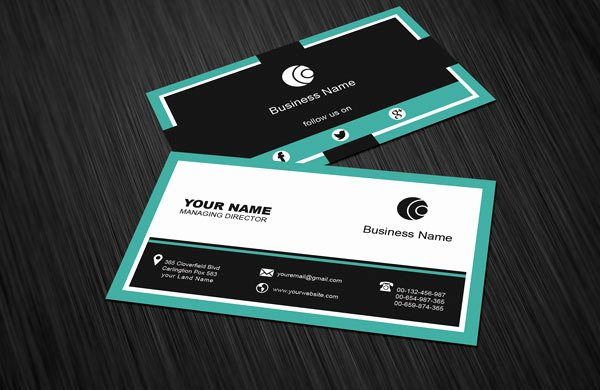 Social Media Business Card Templates Luxury Free social Media Business Card Template Download