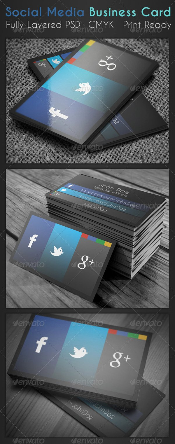 Social Media Business Cards Beautiful social Media Business Card On Inspirationde