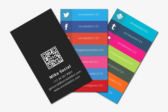 Social Media Business Cards Beautiful social Media Business Cards Samples and Design Ideas Startupguys