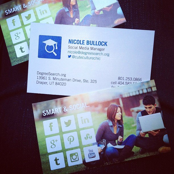 Social Media Business Cards Beautiful social Media Marketing World 2013 – Cute Culture Chick