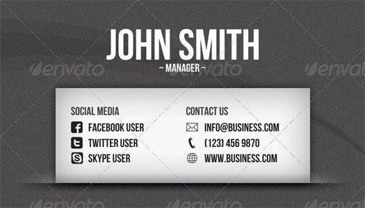 Social Media Business Cards Best Of social Media Business Card by Artnook