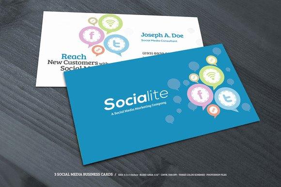 Social Media Business Cards Elegant social Media Business Cards Samples and Design Ideas Startupguys