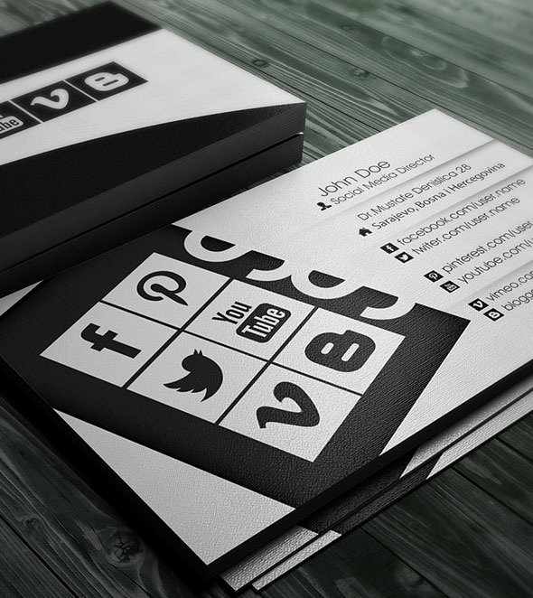 Social Media Business Cards New 11 Examples Of socially Integrated Print Media