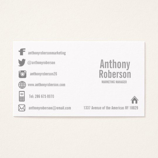 Social Media Business Cards Template Fresh Custom Template with social Media Symbols Business Card