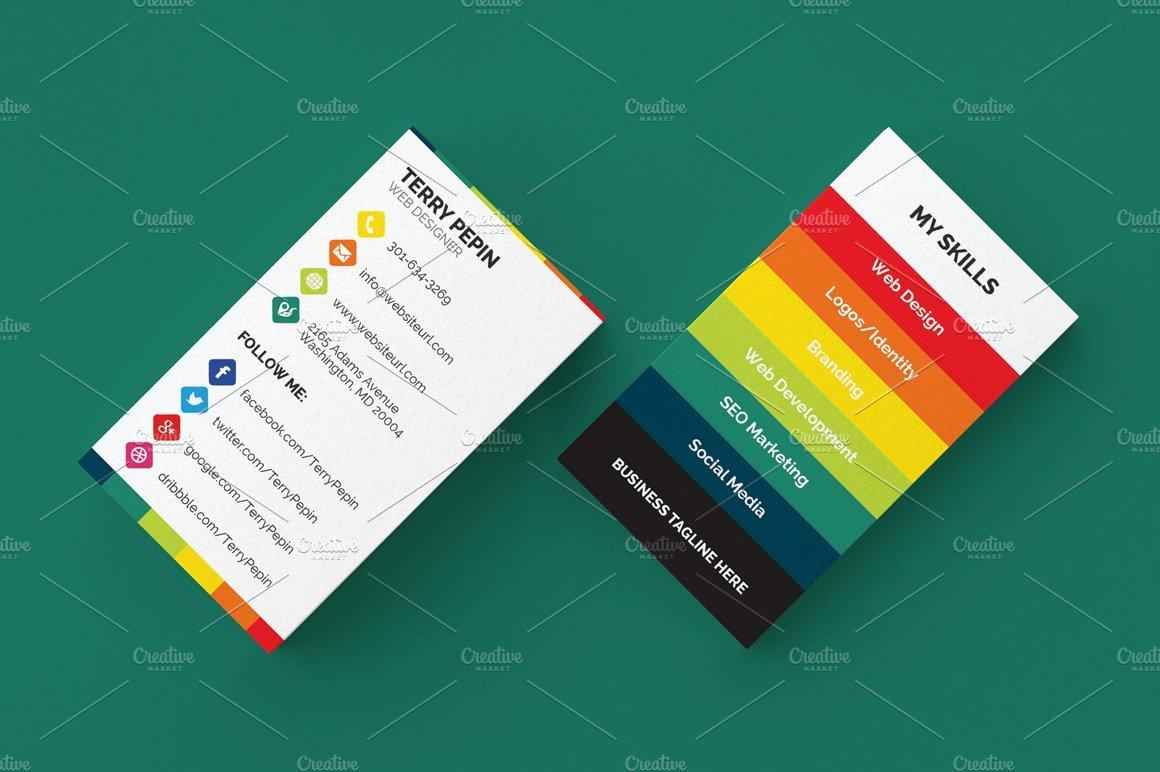Social Media Business Cards Template Inspirational social Media Business Card 61 Business Card Templates Creative Market