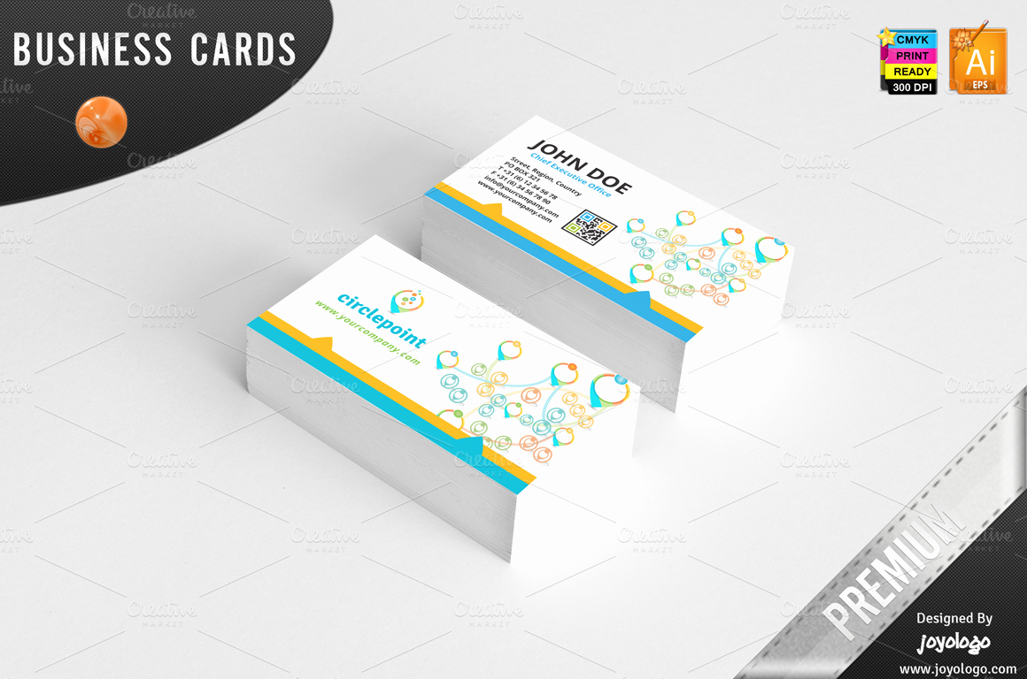 Social Media Business Cards Template Lovely 3d Circle Point social Media Bc Business Card Templates On Creative Market