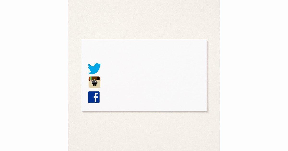 Social Media Business Cards Template Lovely Business Card Template with social Media Icons