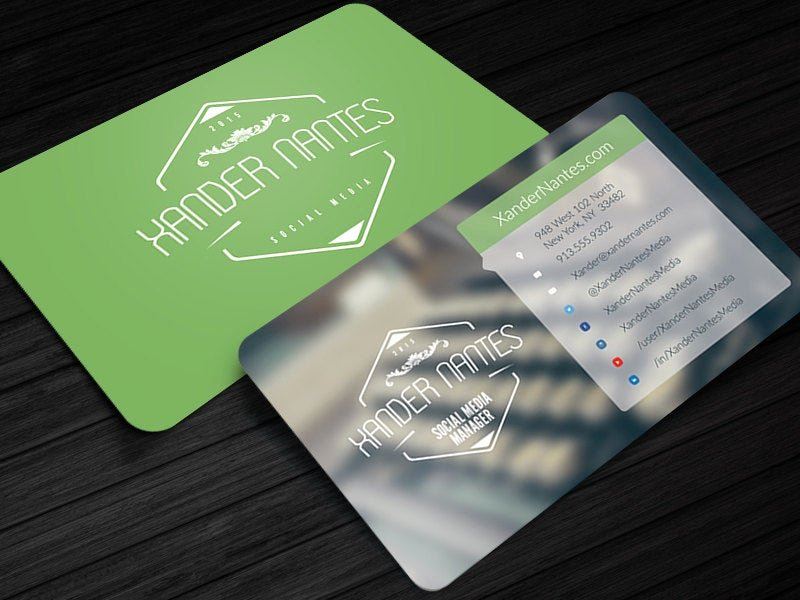 Social Media Business Cards Template Luxury social Media Designer Business Card Shop Psd Template