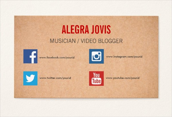 Social Media Business Cards Template New 39 social Media Business Card Templates Free & Premium Download