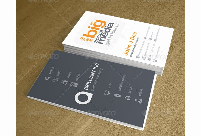 Social Media Business Cards Template Unique the Classiest and Well Designed Printable Business Cards Templates