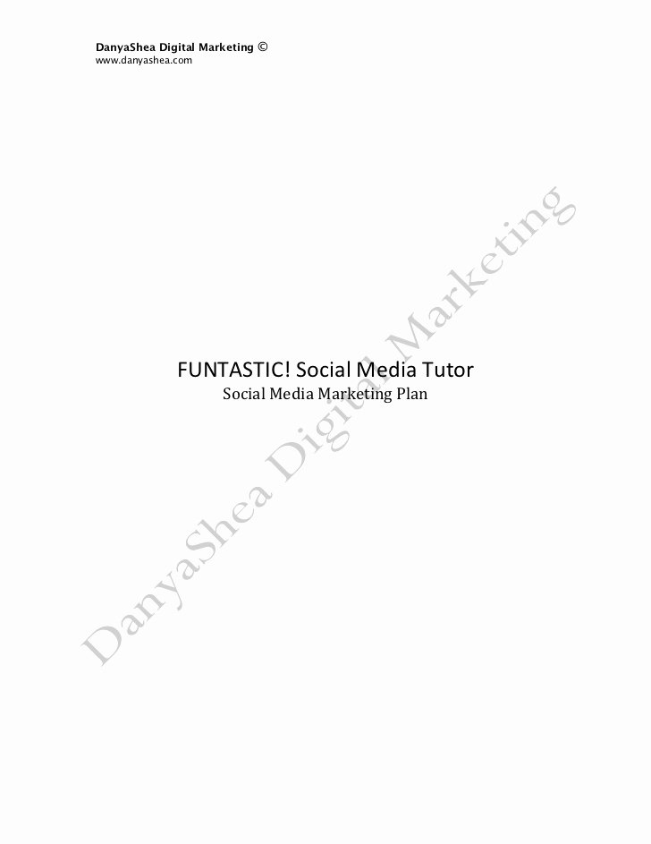 Social Media Marketing Proposal Pdf Elegant social Media Marketing Plan Sample