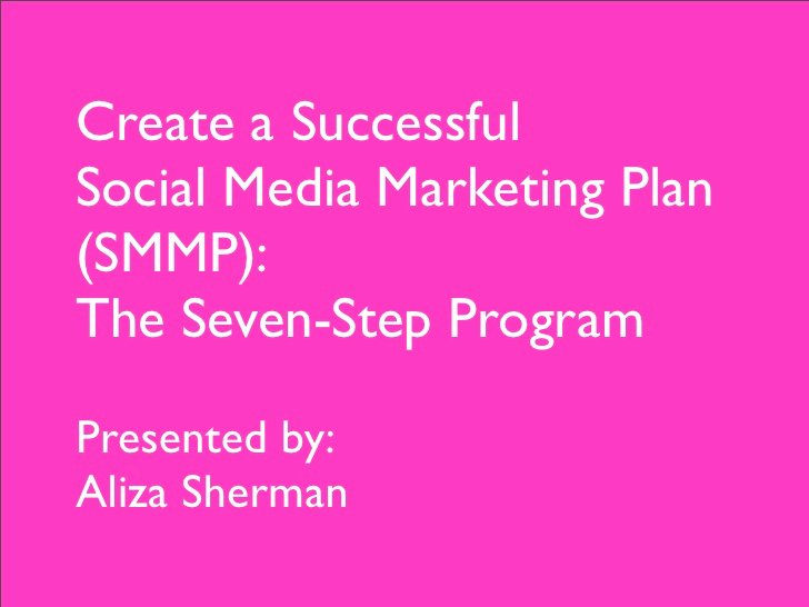 Social Media Marketing Proposal Pdf Inspirational 7 Steps to A social Media Marketing Plan the Pdf
