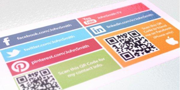 Social Media On Business Card Beautiful social Media Business Card