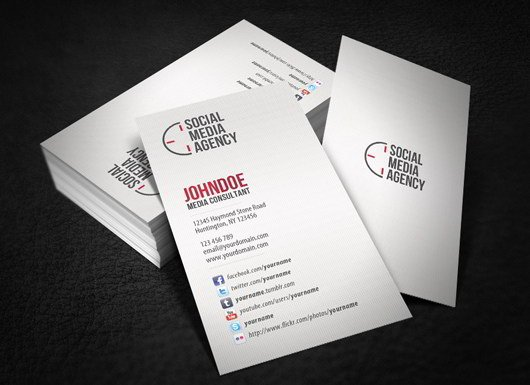 Social Media On Business Card Best Of 30 Fresh and Striking Business Cards In Pristine White Skytechgeek
