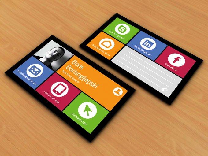 Social Media On Business Card Lovely Design social Media or Windows Style Business Card by Graphixdesigner