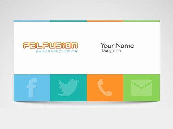 Social Media On Business Card New 13 social Media Business Card Templates Psd Word Ai