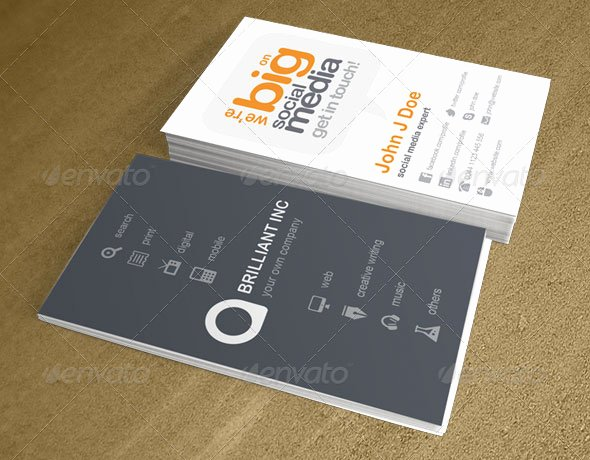 Social Media On Business Card New 20 Creative Business Card Templates that Help You Stand Out From the Crowd